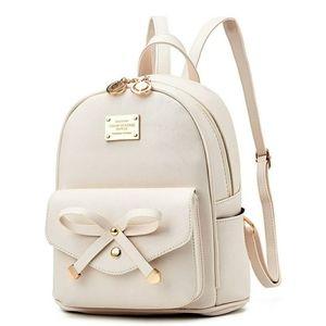 🆕️ Cute Leather Backpack Mini Backpack Purse